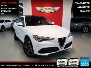 Used 2018 Alfa Romeo Stelvio ACCIDENT FREE I  CERTIFIED I FINANCE for sale in Oakville, ON