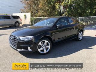 Used 2018 Audi A3 2.0T Komfort LEATHER  ROOF  LOW KMS  ALL WHEEL DRI for sale in Ottawa, ON