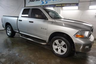 Used 2009 Dodge Ram 1500 SLT 4x4 QUAD CAB CERTIFIED 2YR WARRANTY *SERVICE RECORDS* BLUETOOTH CRUISE ALLOYS RUNNING BOARDS for sale in Milton, ON