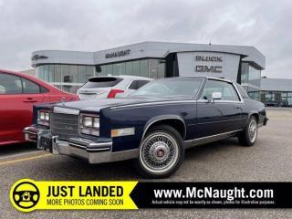 Used 1984 Cadillac Eldorado | Power Windows | AM/FM Radio for sale in Winnipeg, MB