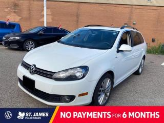 Used 2014 Volkswagen Golf Wagon Highline 2.0L TDI, CLEAN CARFAX, PANORAMIC SUNROOF, HEATED SEATS for sale in Winnipeg, MB