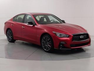 Used 2021 Infiniti Q50 Red Sport ProActive 400 HP, AWD, Apple CarPlay, Active lane control for sale in Winnipeg, MB