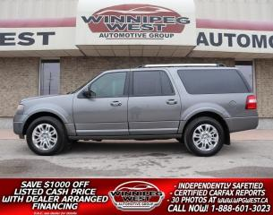 Used 2014 Ford Expedition Max LIMITED MAX EDITION 4X4, 8 PASS, CLEAN & LOADED! for sale in Headingley, MB