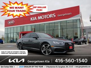 Used 2018 Audi A4 PROGRESSIV SLINE| 1 OWNR| CLN CRFX| 6 SPD M/T| 39K for sale in Georgetown, ON