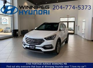Used 2017 Hyundai Santa Fe LIMITED - Leather seating, Remote start, Heated front&rear seats, AWD, Bluetooth for sale in Winnipeg, MB