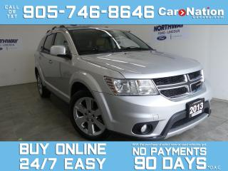 Used 2013 Dodge Journey R/T | AWD | LEATHER | ROOF | NAV |19'' CHROME RIMS for sale in Brantford, ON