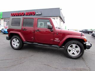 Used 2008 Jeep Wrangler Unlimited Sahara 4WD Automatic 3.8L V6 Certified for sale in Milton, ON