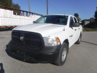 Used 2013 RAM 1500 Crew Cab Short Box  4WD Ex Police with Fibreglass Rear Cover and Bed Slide for sale in Burnaby, BC