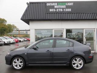 Used 2008 Mazda MAZDA3 GT *Ltd Avail*, SUPER LOW KM, CERTIFIED for sale in Mississauga, ON
