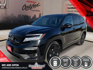 Used 2021 Honda Pilot Black Edition for sale in Owen Sound, ON