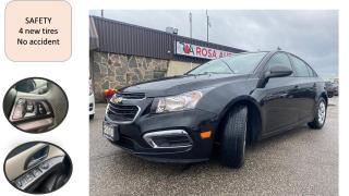 Used 2016 Chevrolet Cruze AUTO 4DR 4 new tires LOW KM NO ACCIDENT SAFETY for sale in Oakville, ON