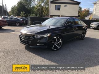 Used 2018 Honda Accord Sport ALLOYS  ROOF  ADAPTIVE CRUISE  HTD SEATS  BA for sale in Ottawa, ON