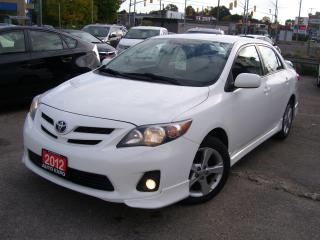 Used 2012 Toyota Corolla S,BLUETOOTH,CERTIFIED, ALLOYS,FOG LIGHTS,SPOILER for sale in Kitchener, ON