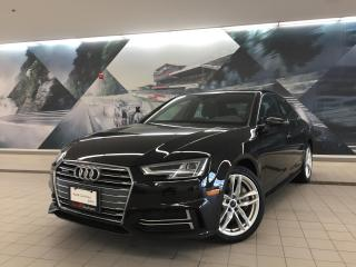 Used 2018 Audi A4 2.0T Technik + Sunroof | Cruise | Alloys for sale in Whitby, ON