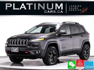 Used 2015 Jeep Cherokee Trailhawk, AWD, 3.2L V6, REAR CAM, SATELLITE RADIO for sale in Toronto, ON