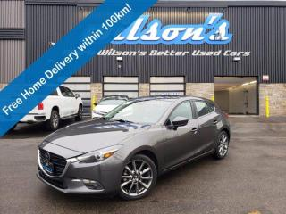 Used 2018 Mazda MAZDA3 Sport GT, Heads Up Display, Navigation, Leather, Sunroof, Adaptive Cruise Control & More! for sale in Guelph, ON