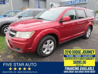 Used 2010 Dodge Journey SXT V6 *Clean Carfax* Certified + 6 Month Warranty for sale in Brantford, ON