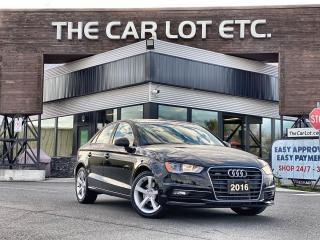 Used 2016 Audi A3 2.0T Komfort AWD!! LEATHER!! SUNROOF!!  HEATED SEATS!! BLUETOOTH!! for sale in Sudbury, ON
