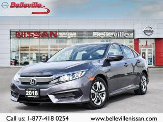 Used 2018 Honda Civic Sedan LX AUTOMATIC, 1 OWNER LOCAL TRADE, CLEAN CARFAX for sale in Belleville, ON