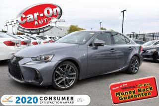 Used 2018 Lexus IS 300 NEW ARRIVAL | F-SPORT PKG | RED LEATHER | SUNROOF for sale in Ottawa, ON