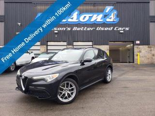 Used 2018 Alfa Romeo Stelvio Ti Sport AWD, Navigation, Red Leather, Sunroof, Reverse Camera, Remote Start & Much More! for sale in Guelph, ON