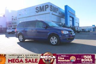 Used 2019 Dodge Grand Caravan Crew Plus Heated Leather + Steering Wheel, Pwr Sliding Doors for sale in Saskatoon, SK