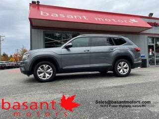 Used 2018 Volkswagen Atlas Highline, 7 Passenger, Heated/Cooled Seats!! for sale in Surrey, BC