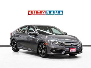 Used 2016 Honda Civic Touring Leather Sunroof Navigation Heated Seats for sale in Toronto, ON