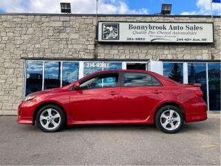 Used 2012 Toyota Corolla S for sale in Calgary, AB