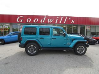 Used 2020 Jeep Wrangler Unlimited BRILLIANT BLUE! REMOTE START! REMOVABLE HARD TOP! for sale in Aylmer, ON