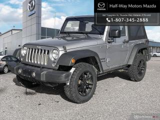 Used 2016 Jeep Wrangler SPORT for sale in Thunder Bay, ON