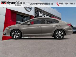 Used 2013 Honda Civic Sedan Touring  - Navigation -  Sunroof - $109 B/W for sale in Orleans, ON