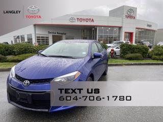 Used 2014 Toyota Corolla S Leather, Low Kms! for sale in Langley, BC