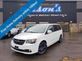 Used 2017 Dodge Grand Caravan SXT Premium Plus, Blacktop Pkg, Leather/Suede, Pwr Side Doors + Liftgate, Navigation, DVD and more! for sale in Guelph, ON