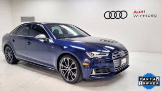 Used 2018 Audi S4 Sedan Technik w/Sport Differential & Adv Driver Assistance *Low KM* for sale in Winnipeg, MB