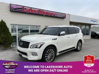 Used 2017 Infiniti QX80 Leather LEATHER for sale in Tilbury, ON