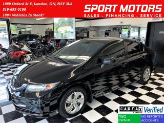 Used 2015 Honda Civic LX+Camera+Bluetooth+Heated Seats+CLEAN CARFAX for sale in London, ON