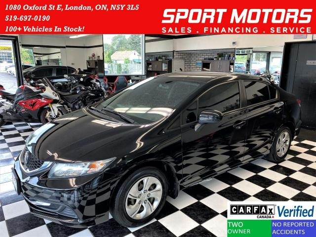 2015 Honda Civic LX+Camera+Bluetooth+Heated Seats+CLEAN CARFAX