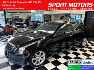 Used 2013 Cadillac ATS Luxury+Heated Leather+New Brakes+CLEAN CARFAX for sale in London, ON