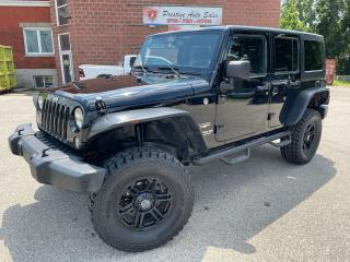 Used 2014 Jeep Wrangler Sahara Unlimited/4X4/3.6L/NEW TIRES/SAFETY INCLUDE for sale in Cambridge, ON
