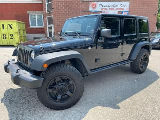 Used 2016 Jeep Wrangler Night Sky Unlimited/3.6L/4X4/TWO TOPS/ONE OWNER for sale in Cambridge, ON