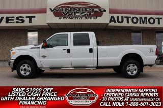 Used 2011 Ford F-350 CREW 6.7L DIESEL 4X4, 8 FOOT BOX, WELL EQUIPPED!! for sale in Headingley, MB