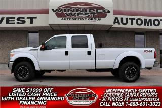 Used 2012 Ford F-350 FX4 CREW 6.2L 4x4, 8 FOOT BOX WELL EQUIPPED & NICE for sale in Headingley, MB