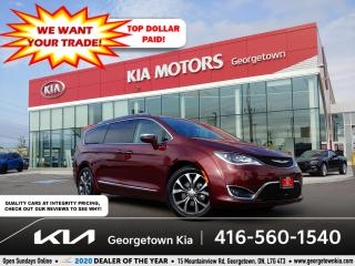 Used 2017 Chrysler Pacifica LIMITED | CLN CRFX | NAV | PANO ROOF | 52K |BU CAM for sale in Georgetown, ON