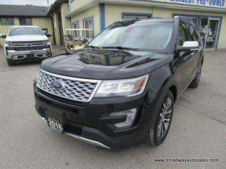 Used 2016 Ford Explorer FOUR-WHEEL DRIVE PLATINUM-MODEL 6 PASSENGER 3.5L - ECO-BOOST.. NAVIGATION.. LEATHER.. HEATED/AC SEATS.. POWER PEDALS.. BACK-UP CAMERA.. for sale in Bradford, ON