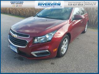 Used 2015 Chevrolet Cruze 2LT OnStar | Leather Upholstery | Sunroof | Low KMS | Navigation System | Heated Seats for sale in Wallaceburg, ON