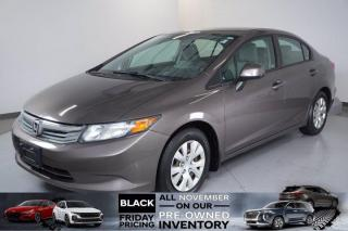 Used 2012 Honda Civic Sdn LX|1.8L|5-Speed Automatic|FWD for sale in Mississauga, ON
