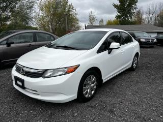 Used 2012 Honda Civic LX for sale in Ottawa, ON