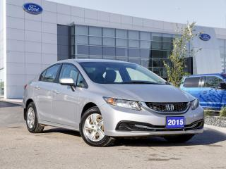Used 2015 Honda Civic LX Local Trade | Clean Carfax for sale in Winnipeg, MB