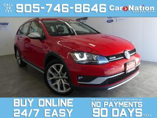 Used 2017 Volkswagen Golf Alltrack AWD | LEATHER | PANO ROOF | NAV | ONLY 23 KM! for sale in Brantford, ON